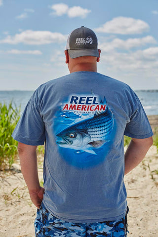 Striped Bass Short Sleeve T-Shirt | Blue Jean