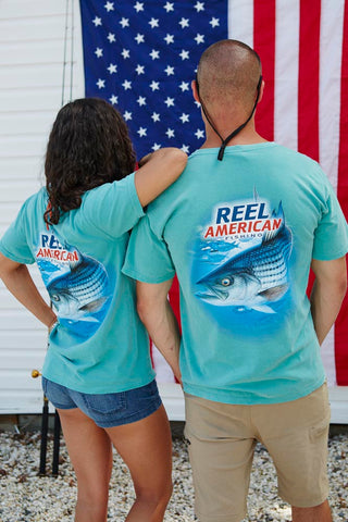 Striped Bass Short Sleeve T-Shirt | Seafoam