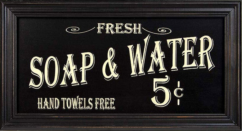 Vintage Soap & Water Sign