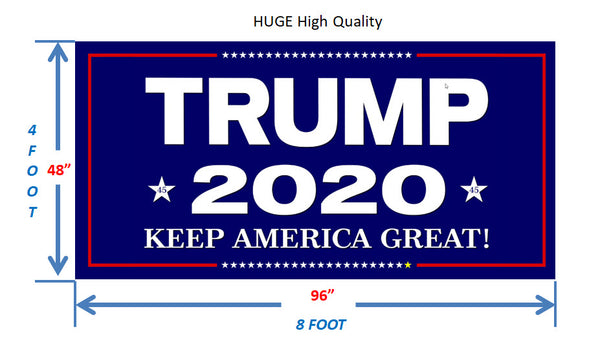 "Trump 2020 - HUGE outdoor magnet 48"" x 96"""