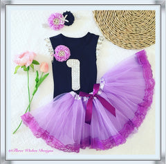 1st Birthday Tutu 3pcs Set