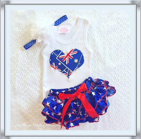 Australia Day 3pcs Bloomers Set