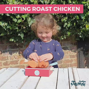 Cutting Roast Chicken