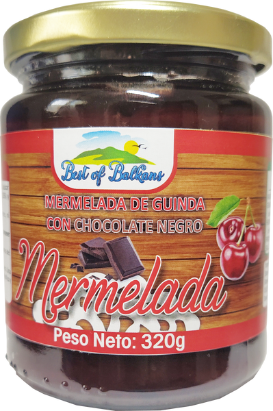 Mermelada de cerezas con chocolate negro 320g