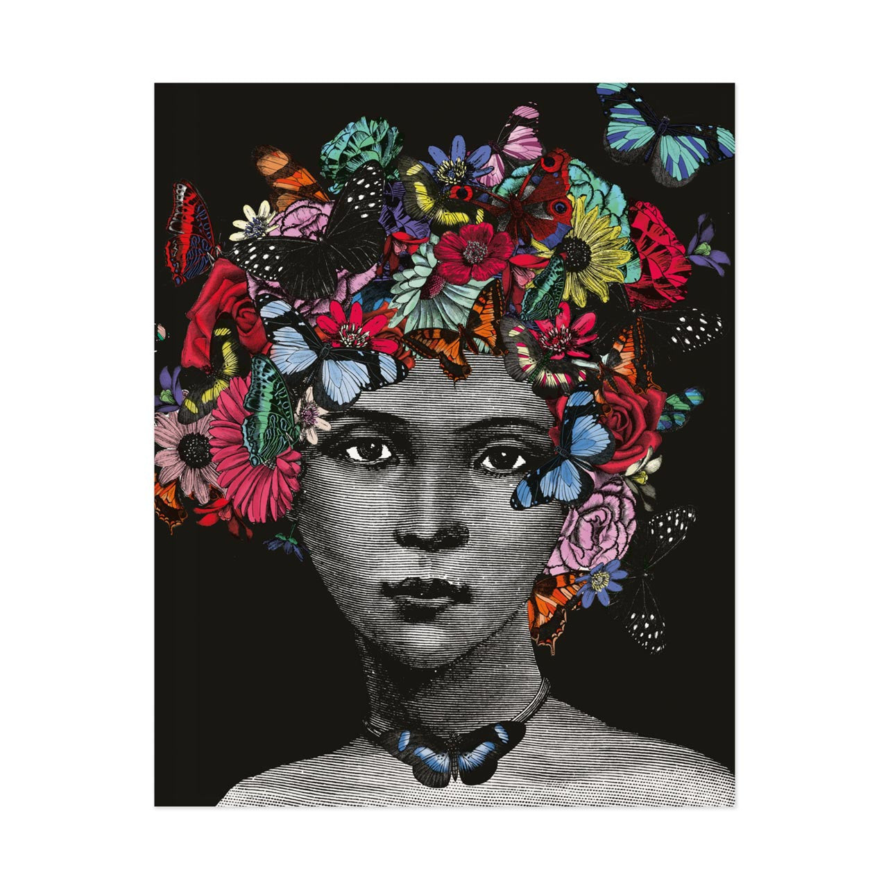 Butterfly Lady Print (PACK OF 3)
