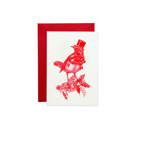 Christmas Robin Greeting Card (PACK OF 6)
