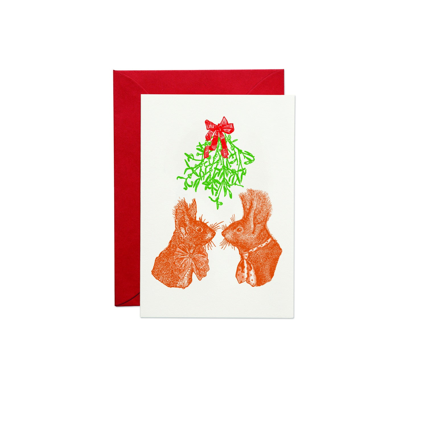 Christmas Squirrels Greeting Card (PACK OF 6)