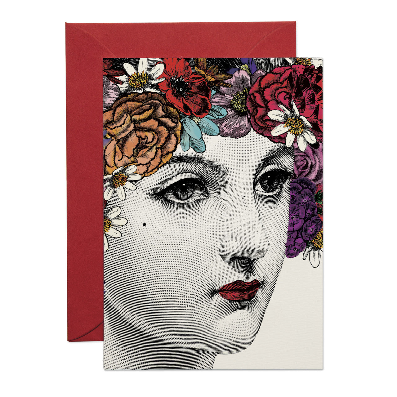 Flower Lady greeting card (PACK OF 6)
