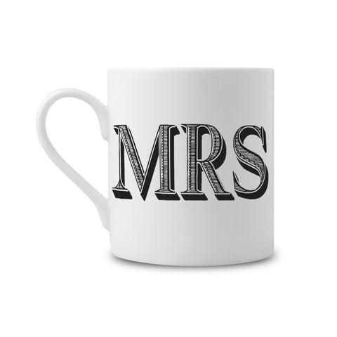 Mrs Type Fine China Mug (PACK OF 6)