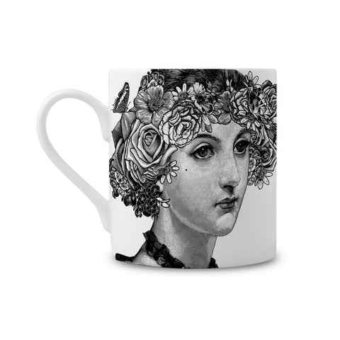 Flower Lady Fine China Mug (PACK OF 6)