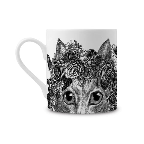 Flower Cat Fine China Mug (PACK OF 6)