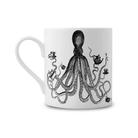 Octopus Fine China Mug (PACK OF 6)