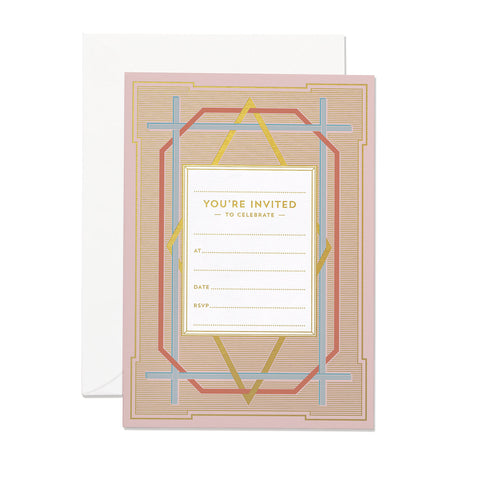 Art Deco Invitation Set (PACK OF 6)