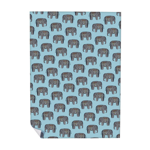 Baby Elephant (Blue) Wrapping Paper (ROLL OF 25)