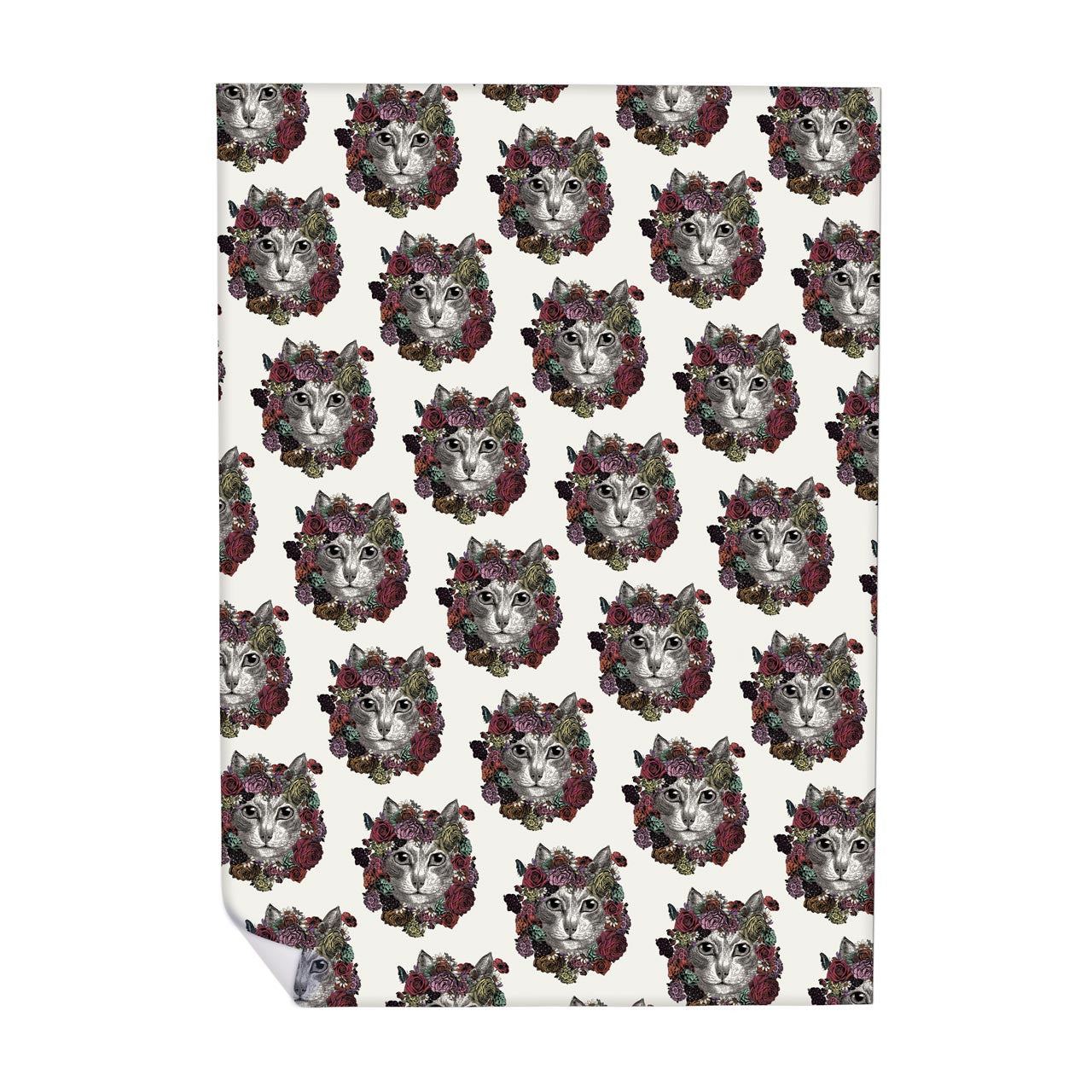 Flower Cat Pattern Wrapping Paper (ROLL OF 25)