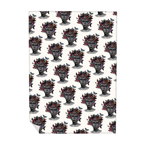 Butterfly Lady Pattern Wrapping Paper (ROLL OF 25)