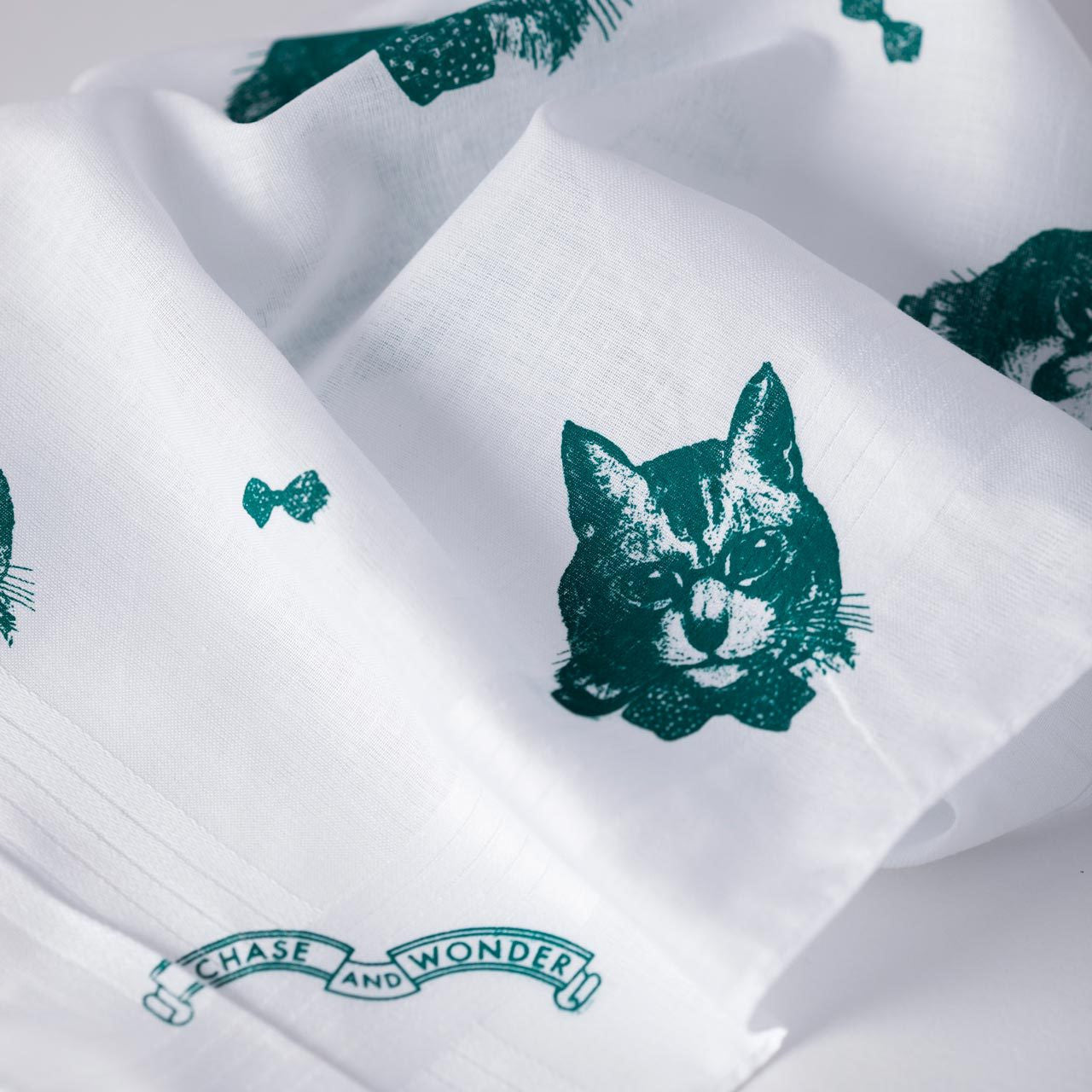 The Sophisticated Cat Handkerchief Set