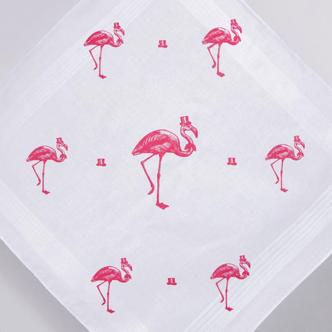 The Sophisticated Flamingo Handkerchief Set