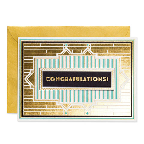Congratulations - Art Deco