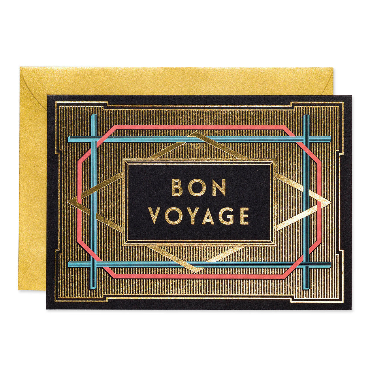 Bon voyage art deco greeting card pack of 6 chase and wonder bon voyage art deco greeting card pack of 6 kristyandbryce Image collections