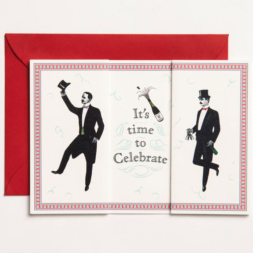 It's Time to Celebrate Long Folding Card