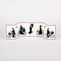 Cycling Procession Long Folding Card