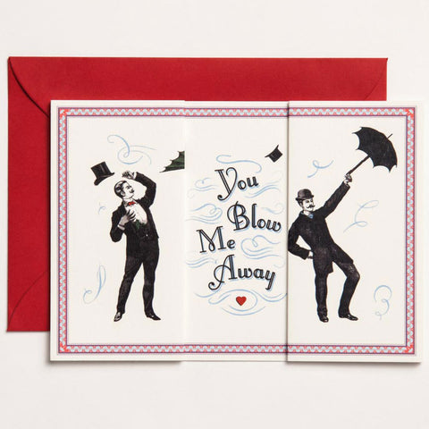 You Blow me Away Long Folding Card