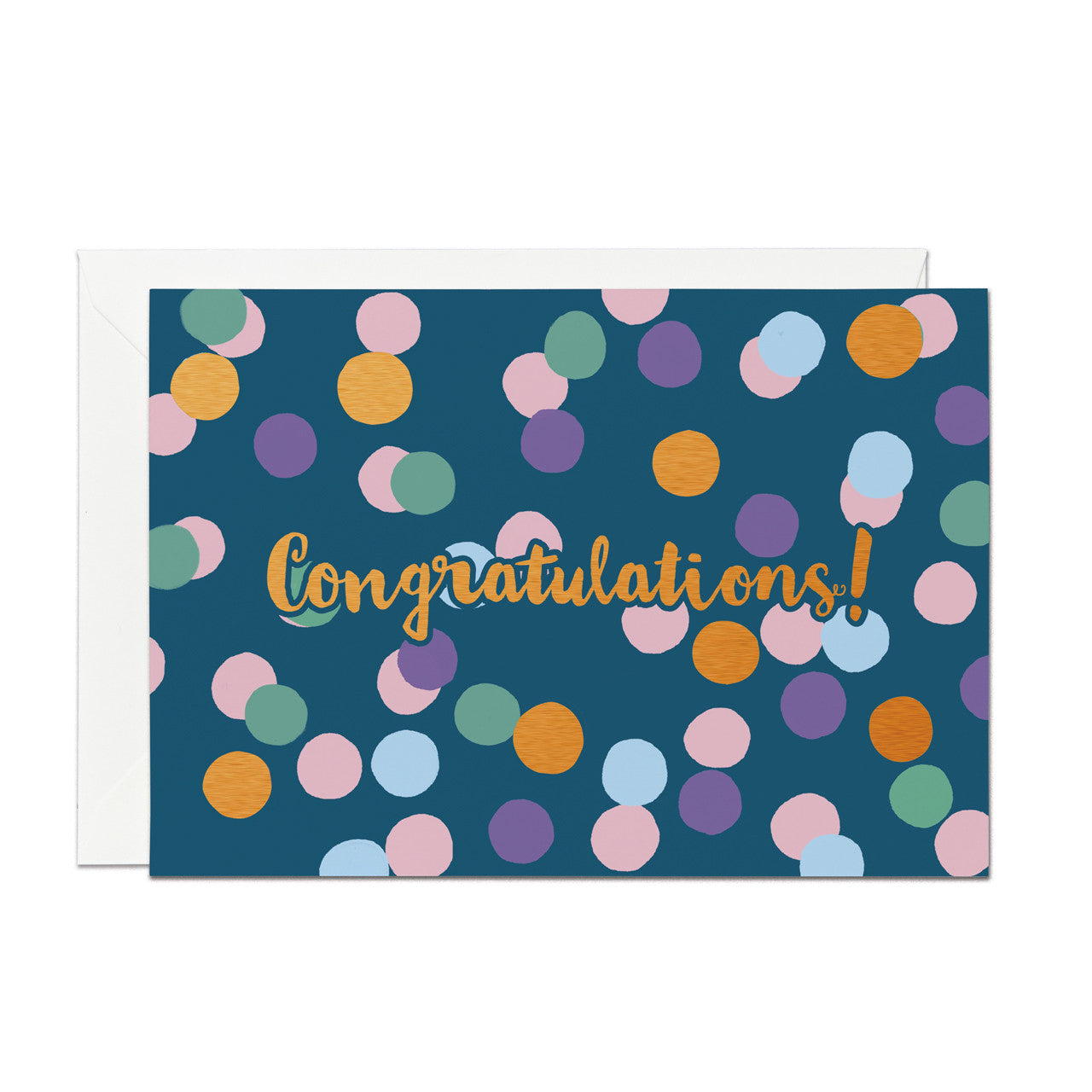 Congratulations- Copper Foil greeting card (PACK OF 6)