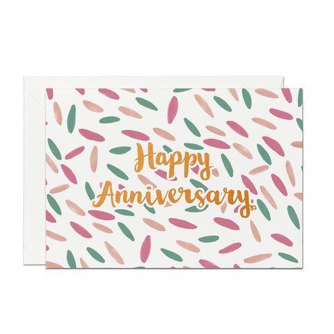 Happy Anniversary- Copper Foil greeting card (PACK OF 6)