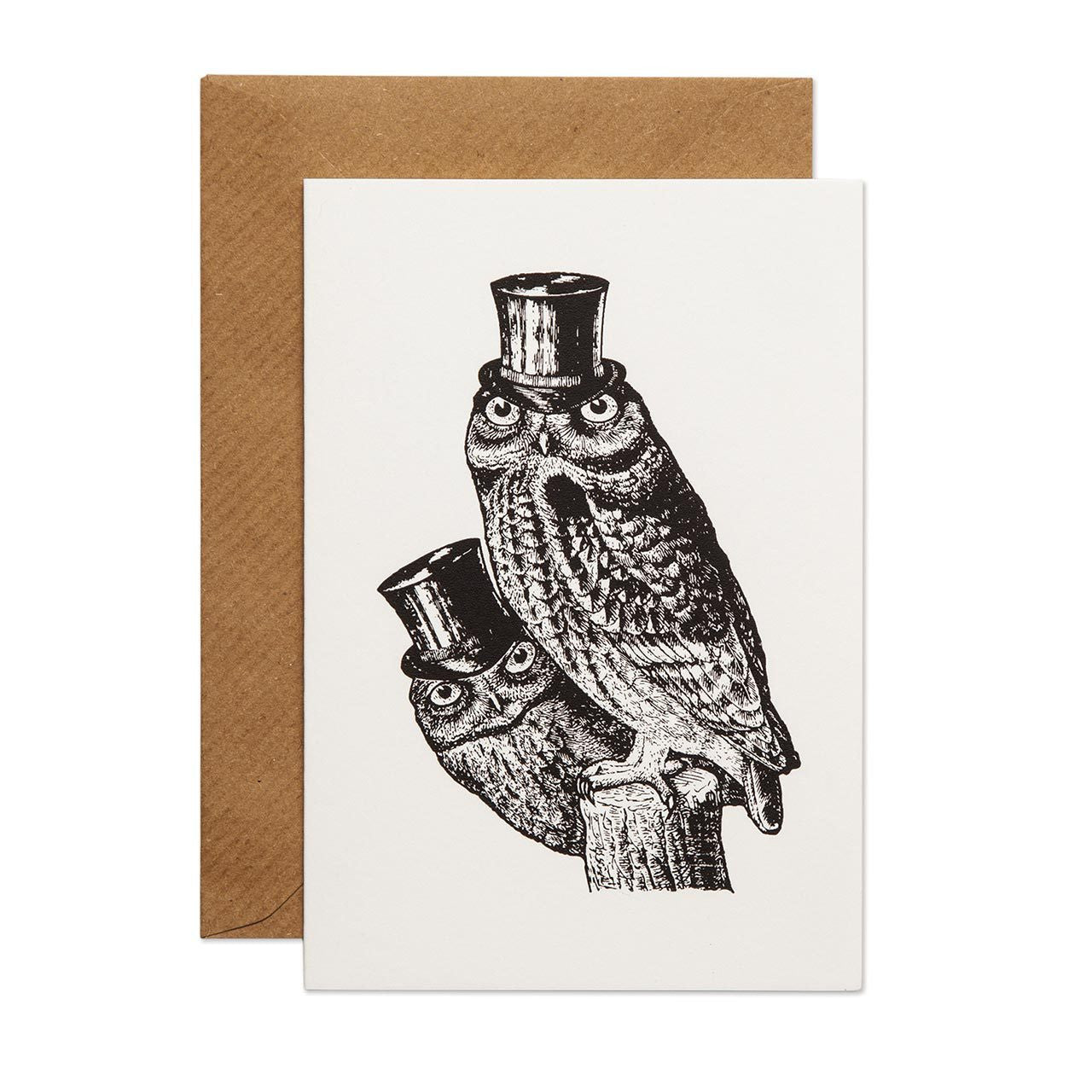 Sophisticated Owls Greeting Card