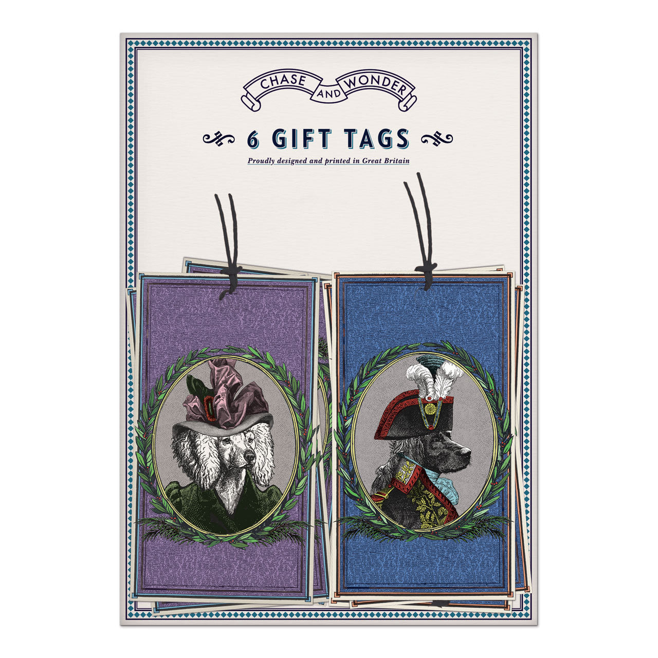 Aristocratic Dogs Gift Tags
