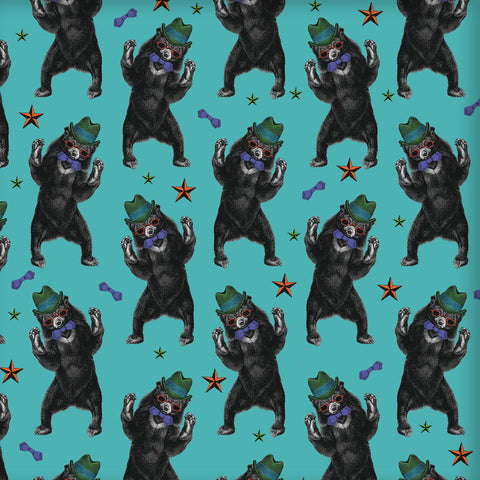 Party Bear Wrapping Paper