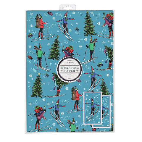 Chistmas Skiing Wrap Pack