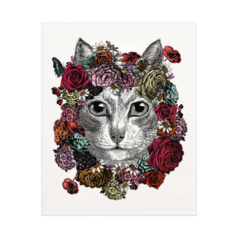 Flower Cat Print (PACK OF 3)