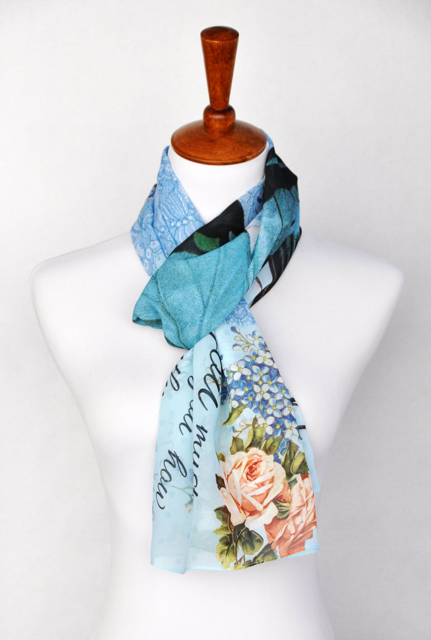 Pride and Prejudice Book Scarf - Blue Butterfly