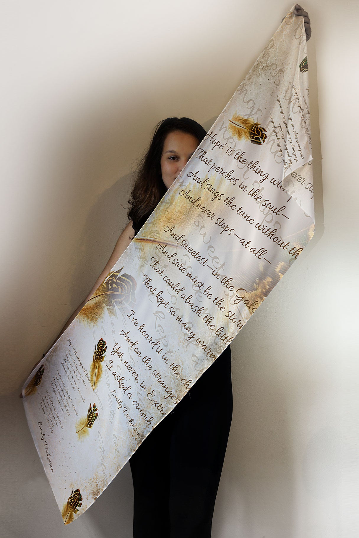 Emily Dickinson Book Scarf