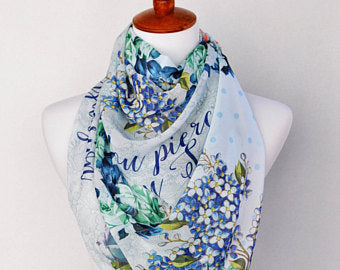 Persuasion Book Scarf, Jane Austen Literary Scarf