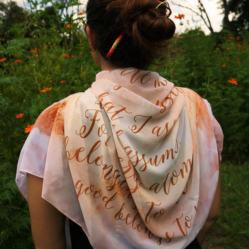 Leaves of Grass Book Scarf, Walt Whitman Literary Scarf