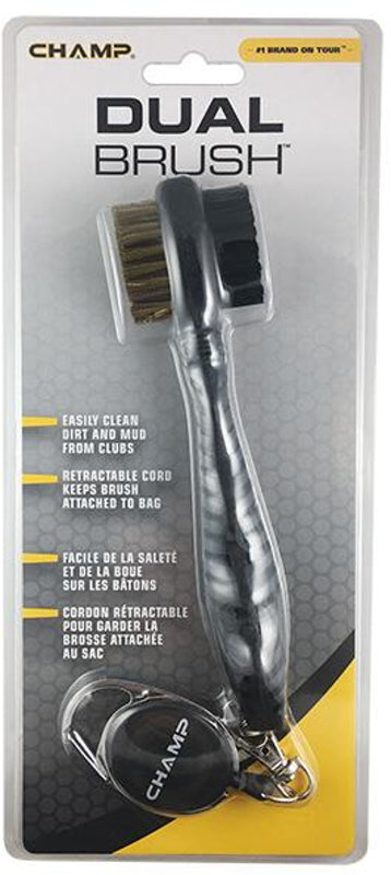 Champ Dual Golf Brush W/ Zip Line