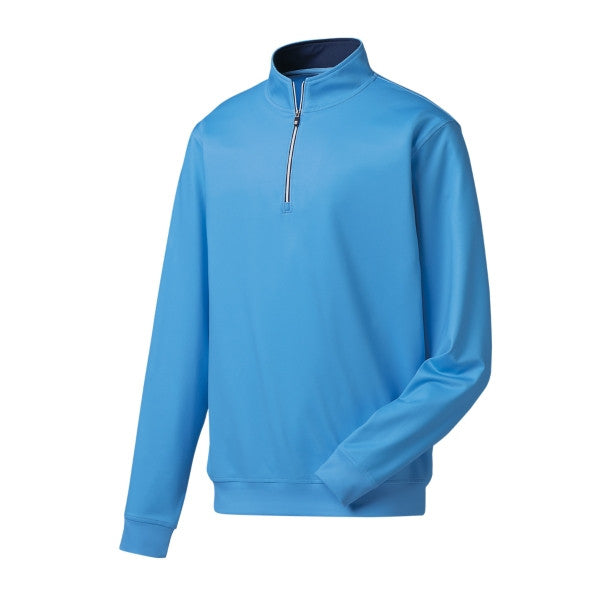FootJoy Performance Half Zip Pullover-Sky Blue<BR><B><font color = red>DISCOUNT AVAILABLE!</b></font>