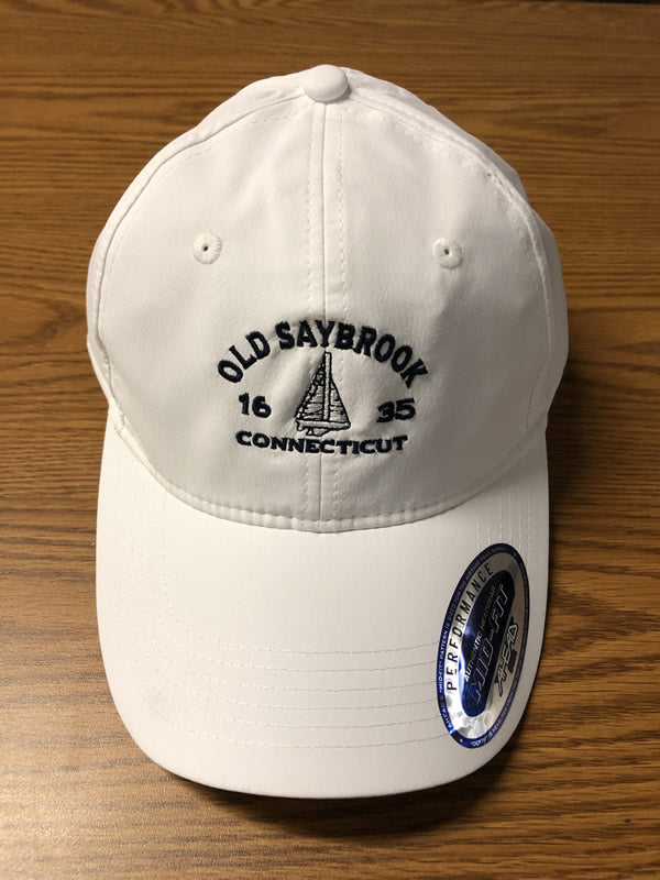 Old Saybrook Mid Fit Hat With Sailboat Motif