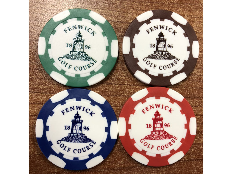 Fenwick Golf Poker Chip Ball Marker