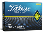 Titleist Tour Soft Golf Balls - Yellow