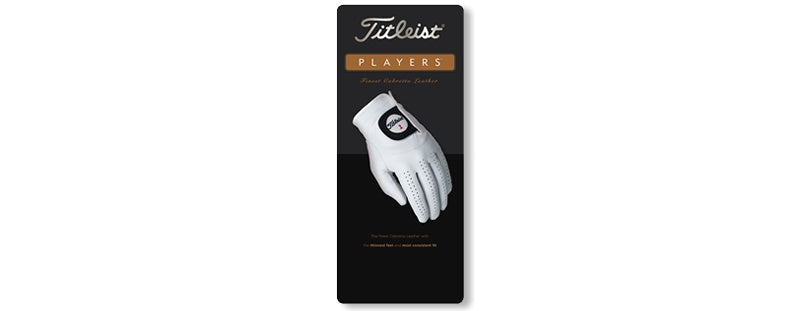 Titleist Players Glove<BR><B><font color =red>SPECIAL! BUY 6 OF SAME SIZE FOR $120! ENTER CODE PGS AT CHECKOUT</b></font>