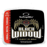 SoftSpikes Black Widow QFit Golf Cleats 22-Pack