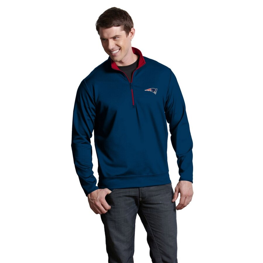Antigua New England Patriots Leader 1/4 Zip Pullover