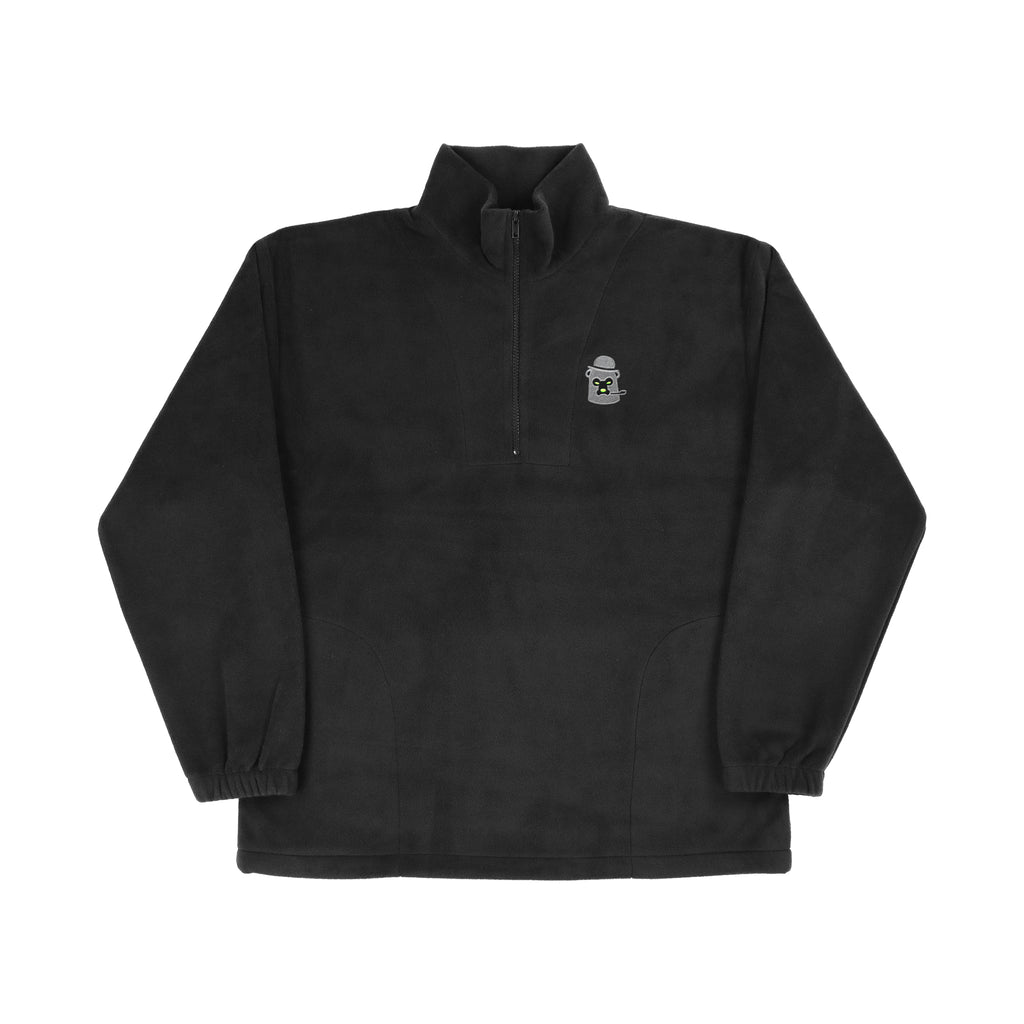 Polar Fleece - Black/Charcoal/Highlighter Green