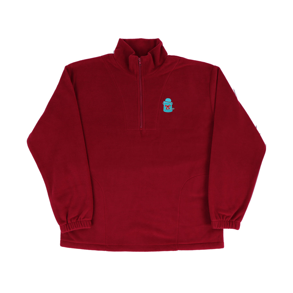 Polar Fleece - Red/Turquoise/Silver