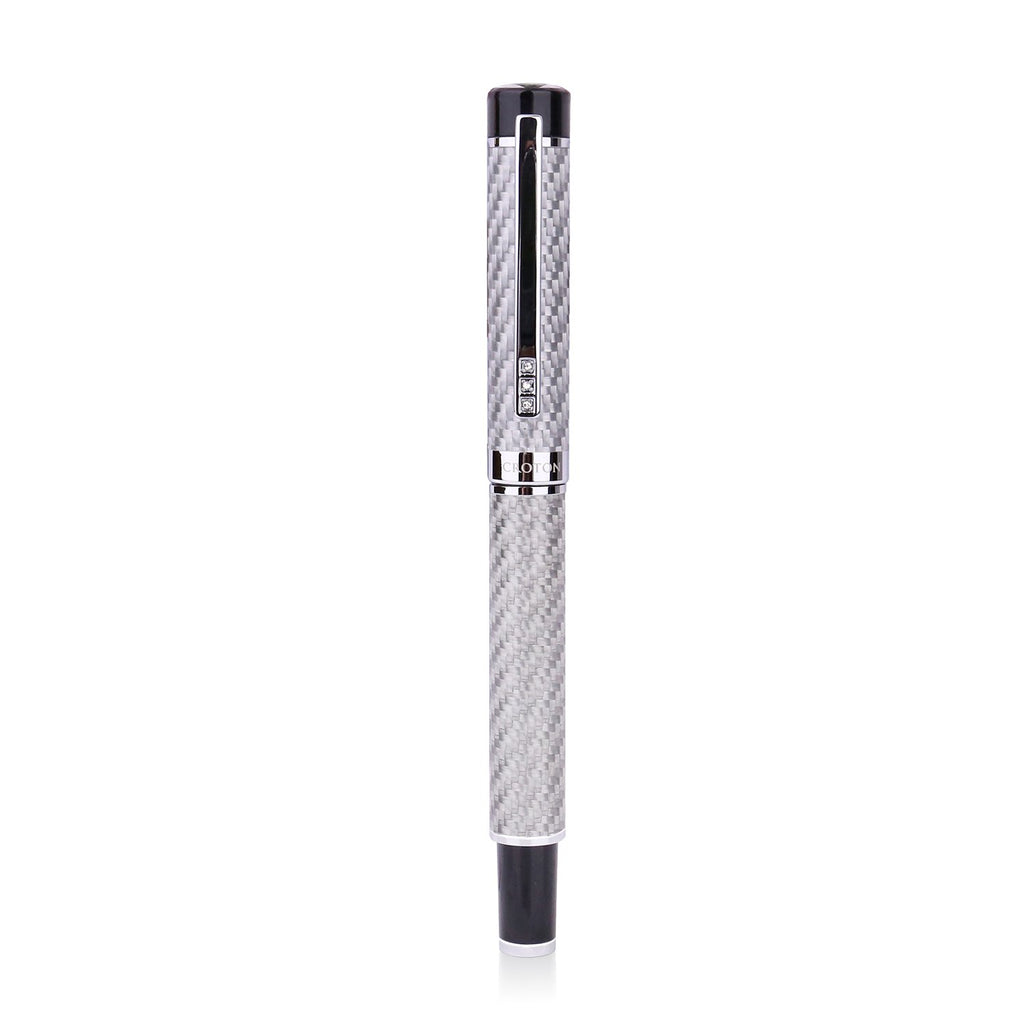 Croton carbon fiber ballpoint pen in grey - CROTON GROUP
