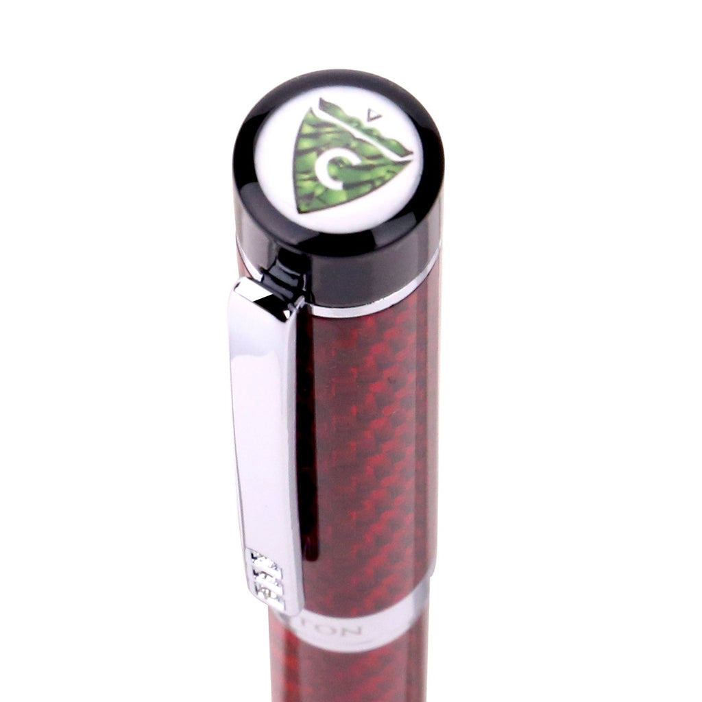 Croton carbon fiber ballpoint pen in red